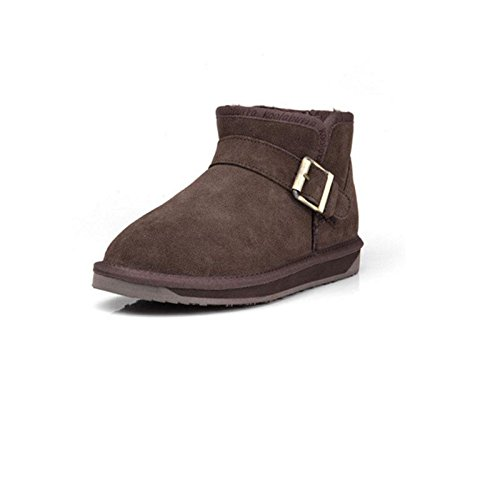 Short cotton Winter 42 snow boots flat BROWN tube Padded shoes warm FqgrFR