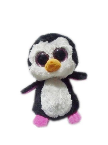 6'' Ty Beanie Boos Penguin Glitter Pink Solid Eyes Toys Plush Stuffed Animals by unbrand