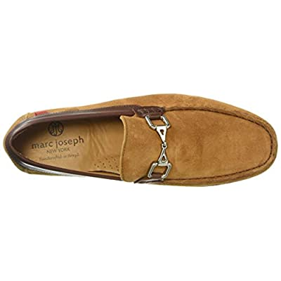 MARC JOSEPH NEW YORK Mens Grainy Leather Carneige Hill Buckle Loafer, Rust Suede, 9 M US   Loafers & Slip-Ons