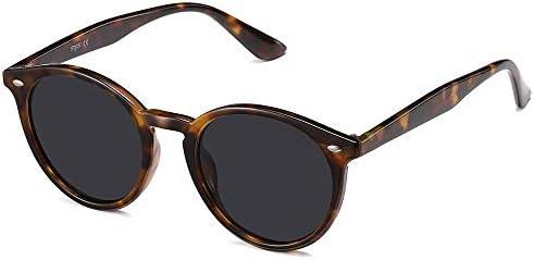 SOJOS Classic Retro Round Polarized Sunglasses UV400 Mirrored Lens SJ2069 ALL ME