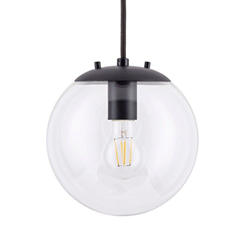 Black Globe Pendant Light - 1