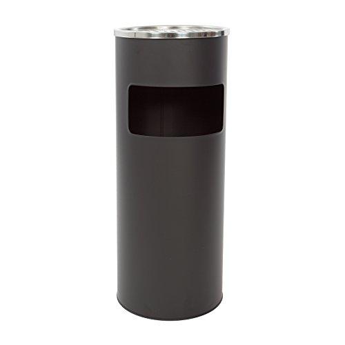 30 Liter Standaschenbecher Aschenbecher Mülleimer Ascher (Schwarz)