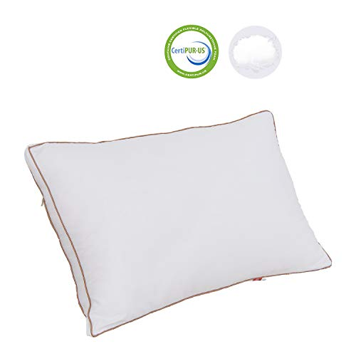 TEALP Bed Pillow for Sleeping, Hypoallergenic Sleeping Pillows,Soft Cotton Pillow in 5 Star Hotels with Zippered Cover, Standard