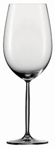 Schott Zwiesel Tritan Crystal Glass Diva Stemware Collection Claret/Bordeaux Goblet, Red Wine Glass, 26-Ounce, Set of 6