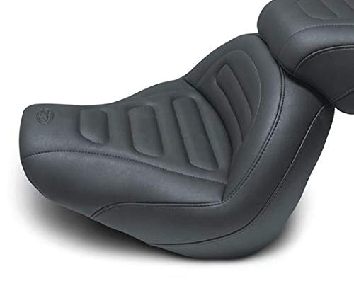 Mustang 75887 Max Profile Solo Touring Seat - Trapezoid Stitch (Best Solo Seat For Fat Bob)