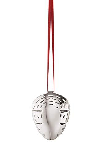 (Georg Jensen 1 x Christmas Decoration, Palladium Plated Brass, Silver, One Size)