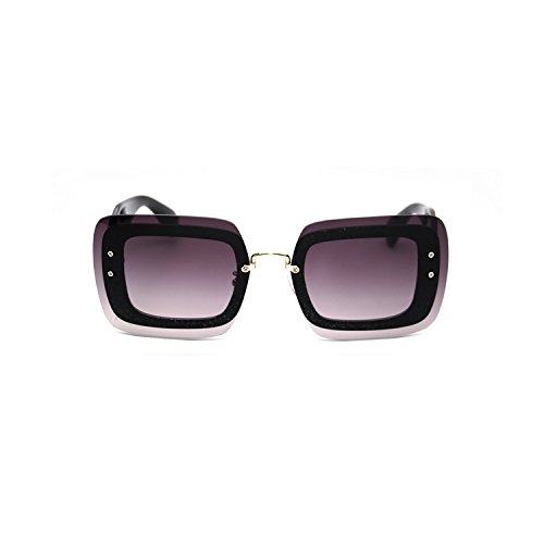 82a4eab07ac Frameless square Sunglasses female tide round face South Korea new net red  fashion big frame sunglasses