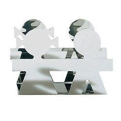 Alessi Girotondo Napkin/Envelope Holder Polished Steel by Alessi