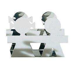 Alessi Girotondo Napkin/Envelope Holder Polished Steel by Alessi