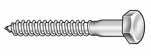 Hex Head Lag Screw, 3' L, 1/4' Size, PK625