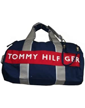 Duffle Bag/Carry-On, Small, Navy/White/Red/Gray