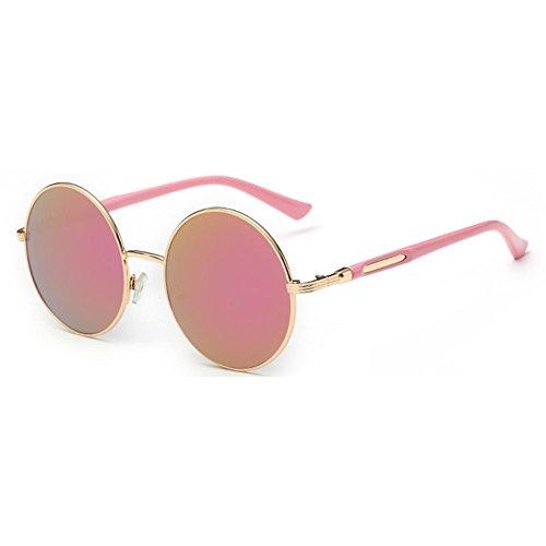 con vintage Gafas de redonda estilo juqilu sol C4 redondas con para lente retro de sol mujer Gafas gwPx0Bv0