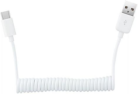 Welawn Cable USB Tipo C en Espiral, Cable de Extensión de Carga ...