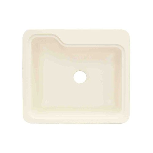 Biscuit Composite Top Mount (Transolid KST25221-08 25in x 22in Top Mount Self-Rimming Portland Kitchen Sink, Biscuit)