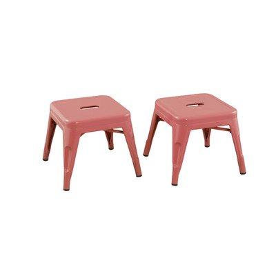 Reservation Seating Kids Steel Stool, Pink, One Size