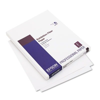 Epson® Exhibition Fiber Paper, Micro Porous Smooth Gloss, Letter, White, 25 Sheets
