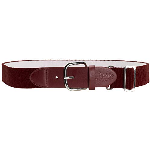 Adams USA Elastic Baseball and Softball Belt, Cardinal, Youth (18-32