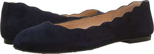 Flats Sole French Suede (French Sole Women's Jigsaw Navy Empire Suede 6.5 M US M)