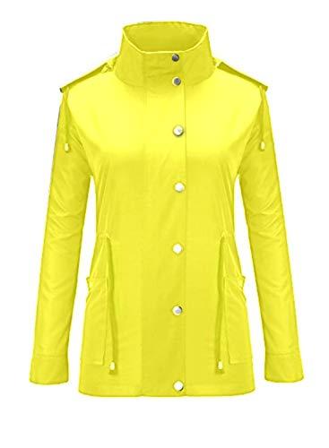 Devant Femmes Sur Le Et Yellow Imperméable Manteaux À Glissière Imperméables Séchage Rapide Pour Manches Fermeture M Togames fr Bouton Léger Longues Haha IqBTwxaaU