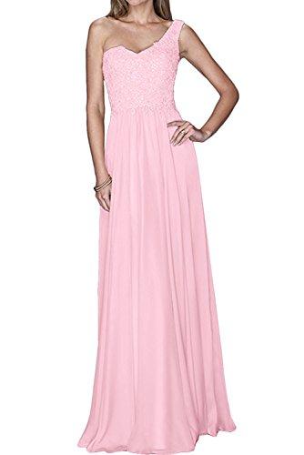 La Marie Braut Damen Ein-traeger Pailletten Chiffon Abendkleider  Partykleider Brautmutterkleider Lang A-linie Hell 8592bee726