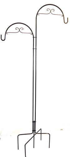 Quicor 64201 Deco Double Offset Shepherd Plant Hook, 73-Inch and 78-Inch, Black by Quicor