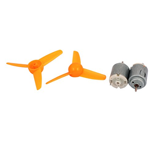 uxcell Motor Propeller Three vane Yellow