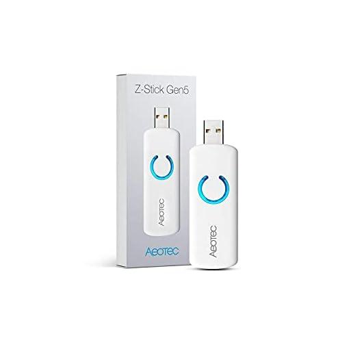 Aeotec Adaptador USB con GEN5, a batería – Blanco