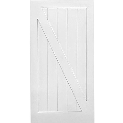 National Door Company Z028973 Solid Core MDF Z-Bar Planked, Primed, 42'' x 84'', Barn Door Slab by National Door Company