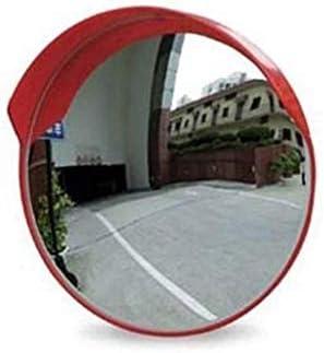 Geng カーブミラー 交通安全ミラー、PC耐久性に優れた交通安全ミラー、丈夫なポータブル広角凸面鏡