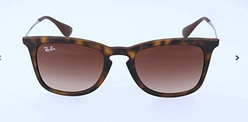 Ray-Ban RB4221 Square Sunglasses, Dark Rubber Tortoise/Brown Gradient, 50 ()
