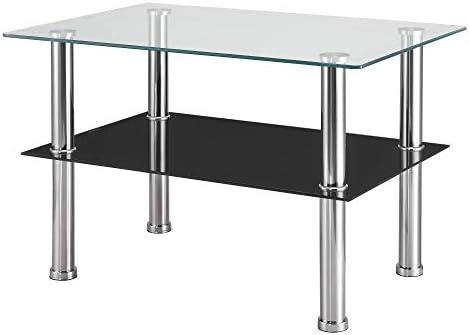 en.casa] Mesa de Centro Mesa de Vidrio Mesa de salón de diseño ...