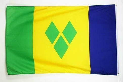 (Mikash 2x3 St. Vincent Flag 2x3 House Banner Grommets | Model FLG - 2581)