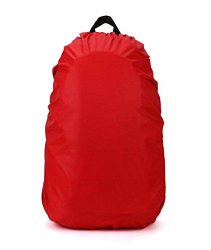 Cosanter Nylon wasserdicht Rucksack Regenschutz Regenhülle Raincover für Rucksack 60L Rouge aGPKmNl