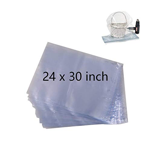 - Morepack Clear Cello/Cellophane Basket Bags for Gift Wrap, 24x30inch (20 Pack)