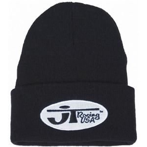 0f2b804f53a Image Unavailable. Image not available for. Color  JT Racing Mens Oval Logo Beanie  Hat One Size Black White