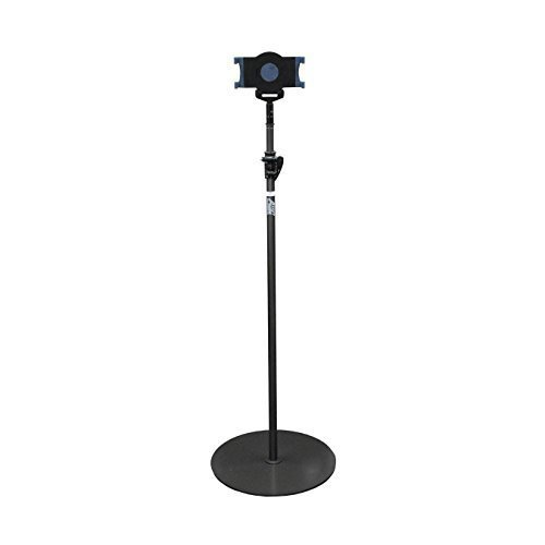 Audio2000's Ast4708 Tablet Display Floor Stand with Round Base for iPad 1, iPad 2, iPad 3 and iPad Air by Audio 2000S
