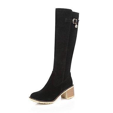 Botas de Mujer Otoño Invierno Comfort polipiel vestir casual Chunky talón caminando hebilla Gray