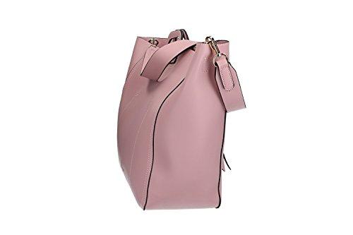 Borsa donna a mano con tracolla ANTONIO BASILE shopper apertura a zip rosa VN1772 Con Tarjeta De Crédito El Precio Barato Tienda Online De Venta Envío Libre Buscando Uz15r