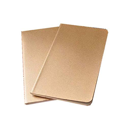 50 pieces blank notebook daily memos travel journal notebook 4.33x8.26 Inch by kensux