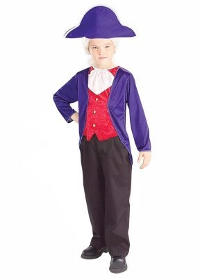 Forum Novelties Inc Boys George Washington Child Costume Blue Small 4-6