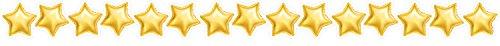 Creative Teaching Press Gold Mylar Balloon Stars Border (8499)