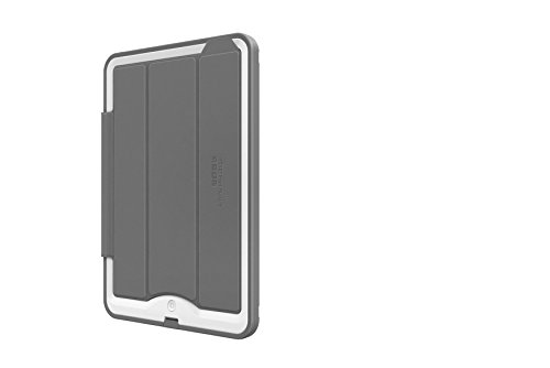 Portfolio Cover + Stand for LifeProof NÜÜD SERIES iPad Air (ONLY) Cases - Retail Packaging - WHITE/GREY (LifeProof FRĒ SERIES Waterproof Case NOT included)