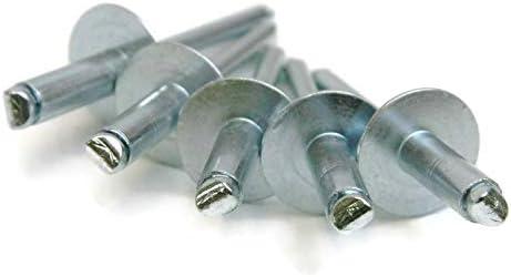 QTY 1,000 0.251-0.375 Pop Rivets 3//16 Diameter #6 All Steel Blind Rivets 6-6 3//16 x 3//8 Grip