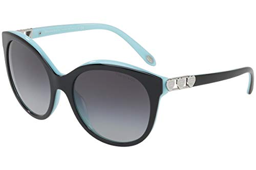 TIFFANY & CO. TF4133 - 80553C Sunglasses Black/Blue W/ Grey Gradient Lens ()