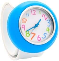 Unisex 3D Cartoon White Blue Kids Watch Girls Boys Sports Watch Bendable Rubber Strap Wrist Watch