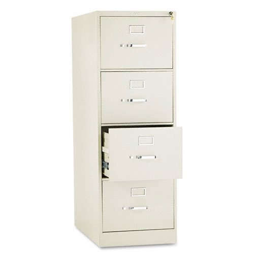 HON 4-Drawer Filing Cabinet - 310 Series Full-Suspension Legal File Cabinet, 26-1/2-Inch, Putty (H314C)