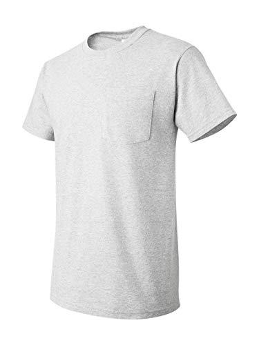 Fruit of the Loom Mens 5 oz. Heavy Cotton HD Pocket T-Shirt (3931P) -ASH -3XL