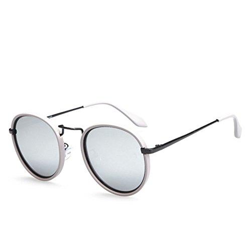 Marco Unisex Sol Aire Gray De Redondo UV Gafas Gafas Moda Al Viaje Protección Polarizado Libre Black Retro Personalidad De EwxZwpXvq