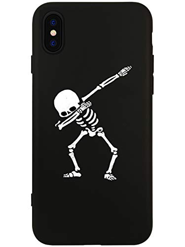 LuGeKe Cool Skull Phone Case Cover for iPhone Xs max Dance Skeleton Printed Phone Cover Shell Frame for Apple iPhone Drop Protection Reinforced Protector