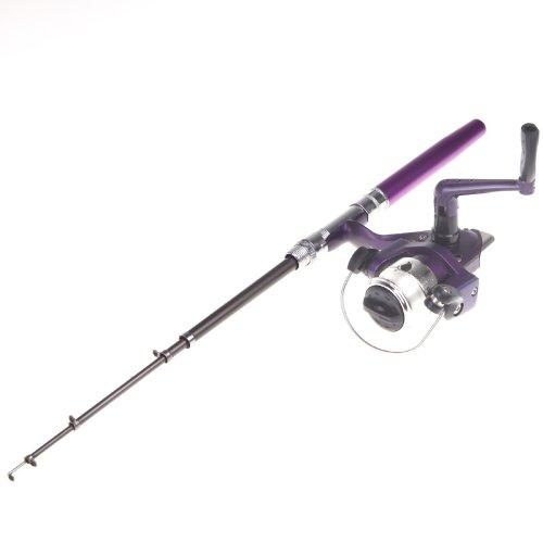 Authentic docooler mini aluminum pocket pen fishing rod for Pen fishing rod amazon